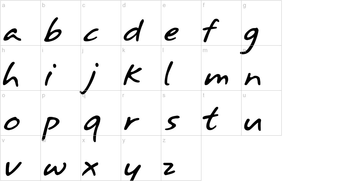 Annifont lowercase