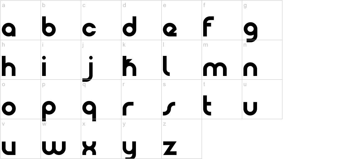 Patinio Basica lowercase