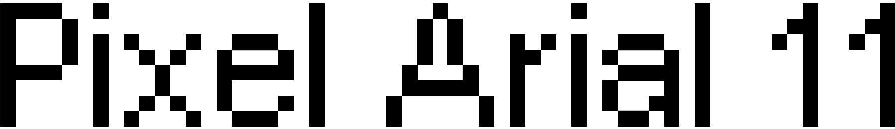 Pixel Arial 11