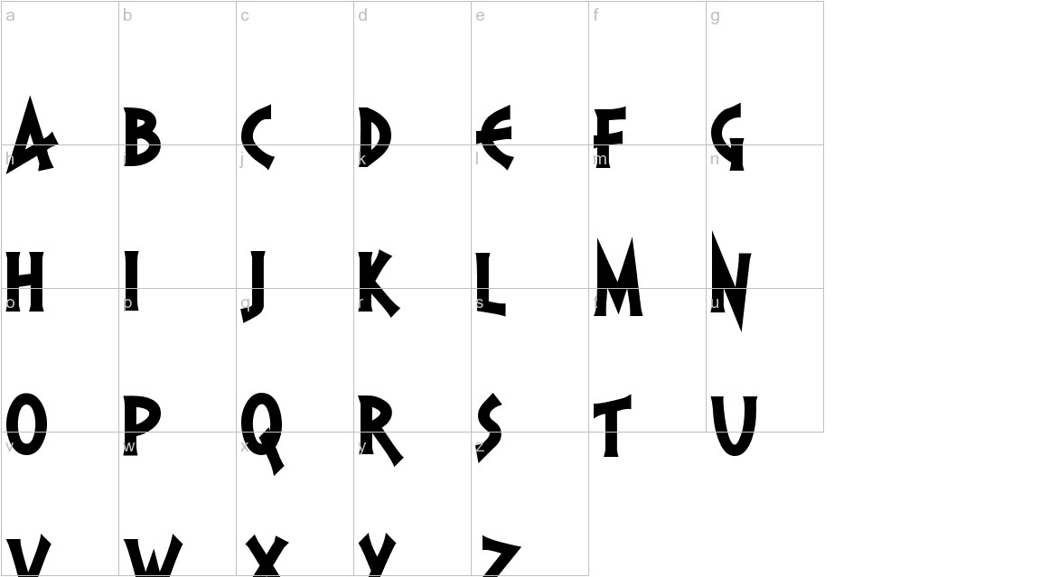 PR Agamemnon  Bold Top Lining lowercase