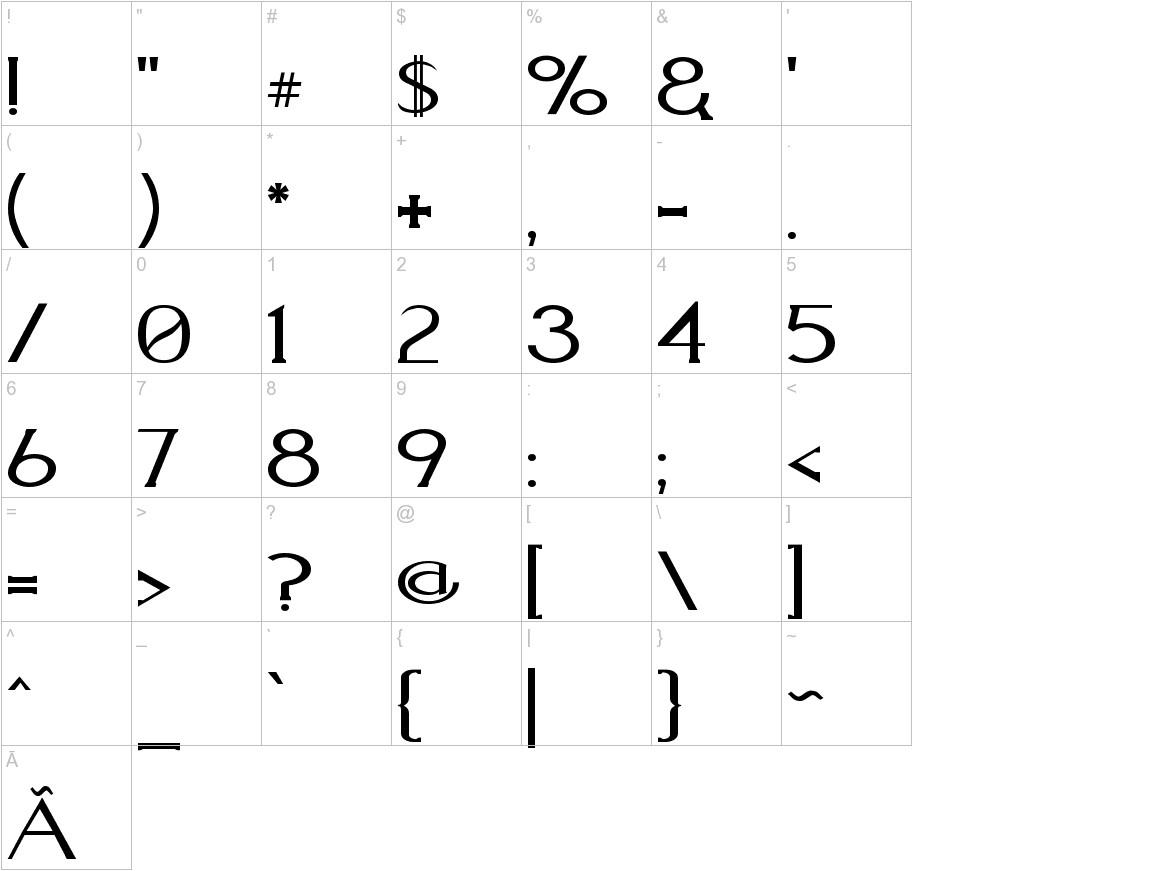 Aquaduct    Plain characters