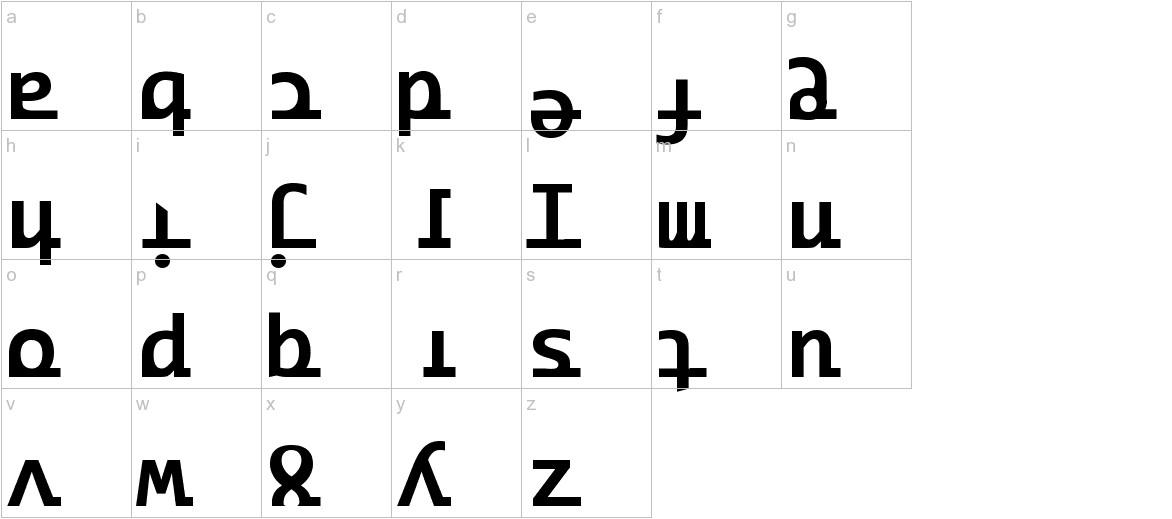 Ridicode lowercase