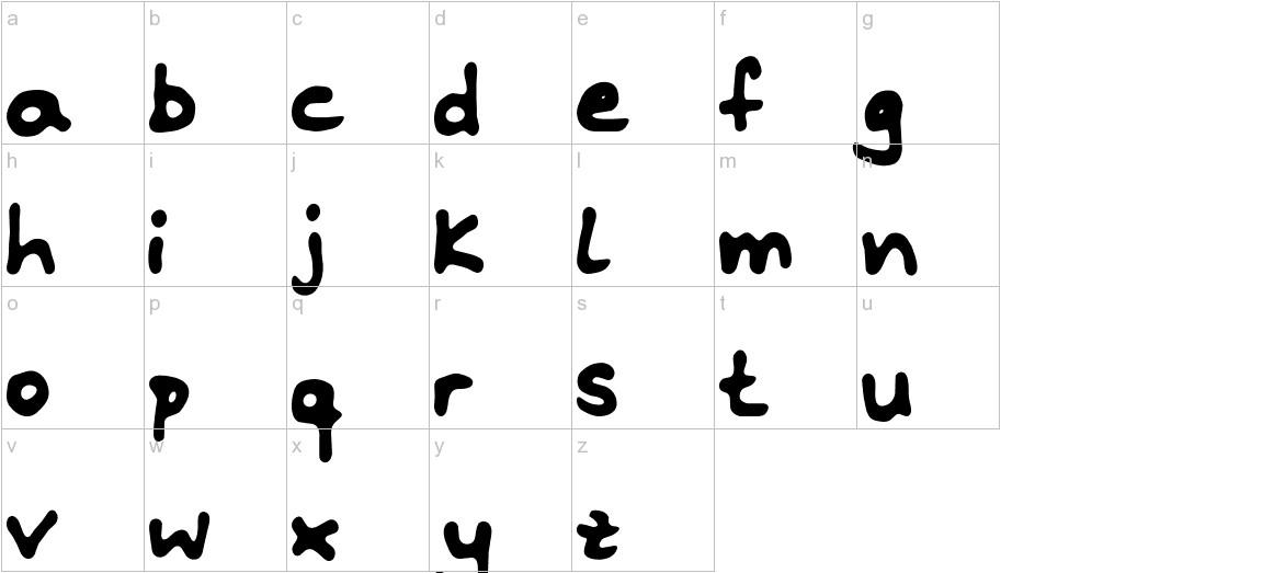 Riddleprint lowercase