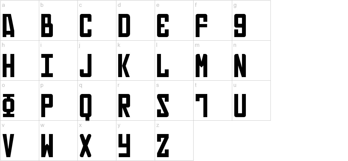 Russian lowercase