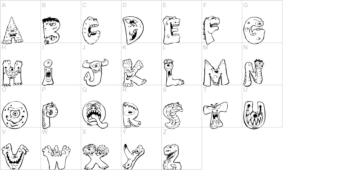 Scary Monsters uppercase
