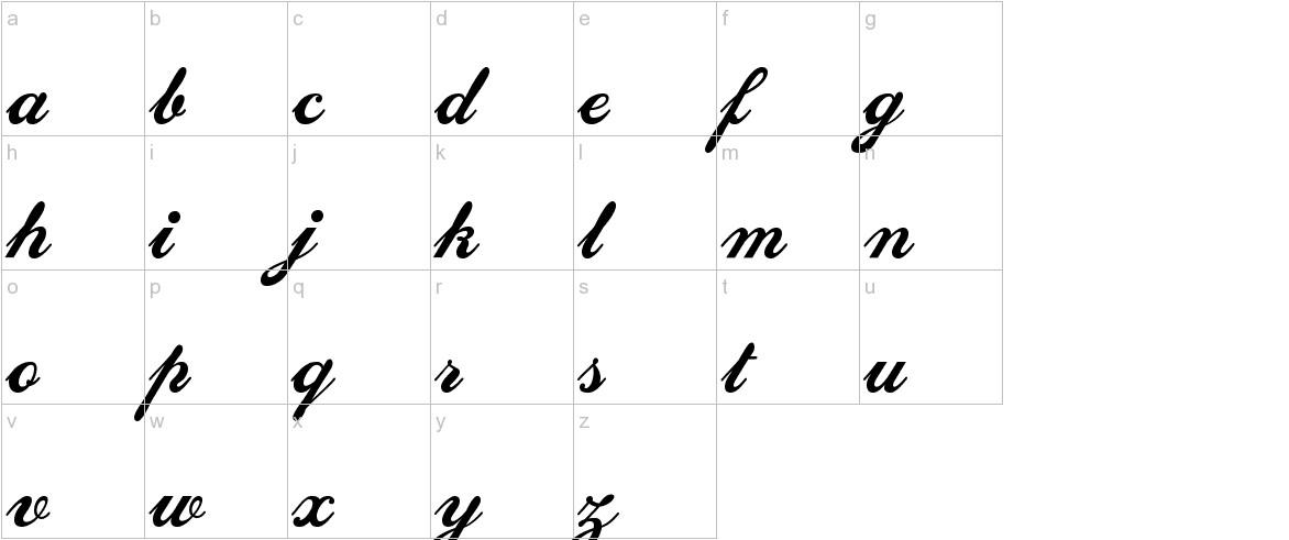 SedonaScriptFLF lowercase