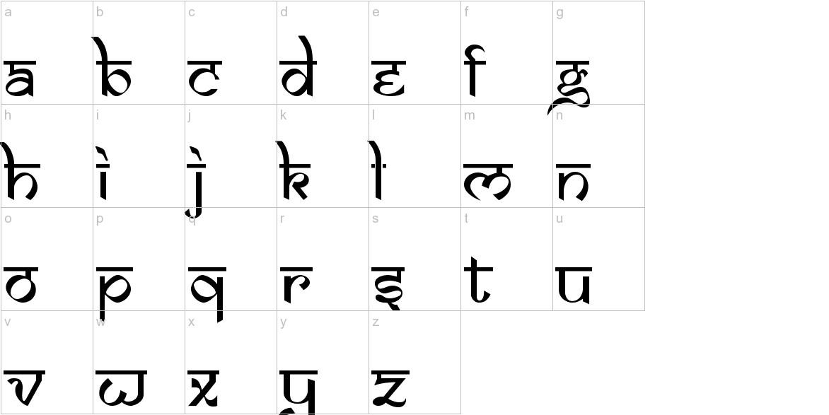 Samarkan Normal lowercase