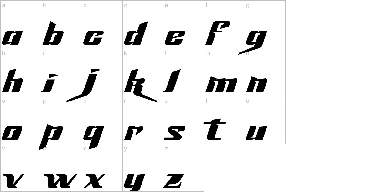 Slick69 lowercase
