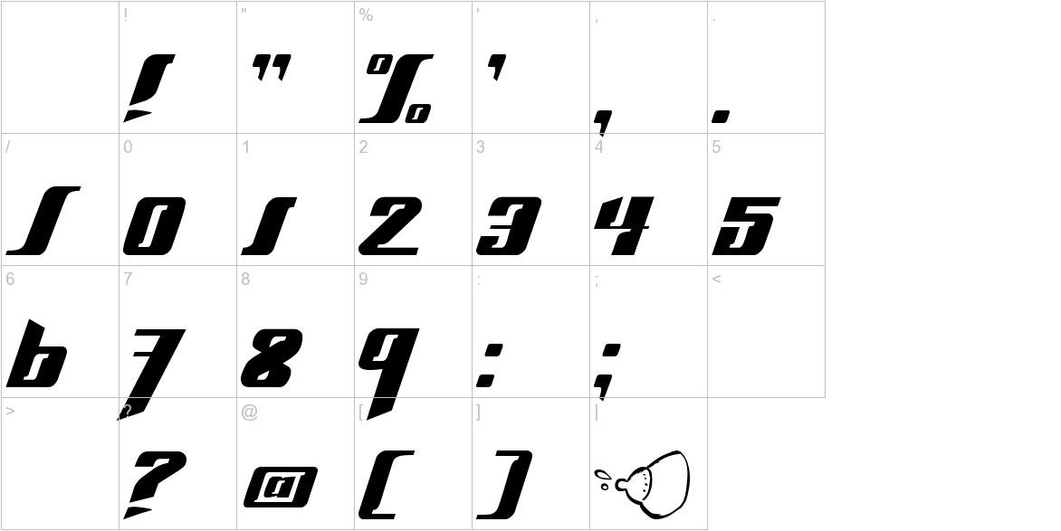Slick69 characters