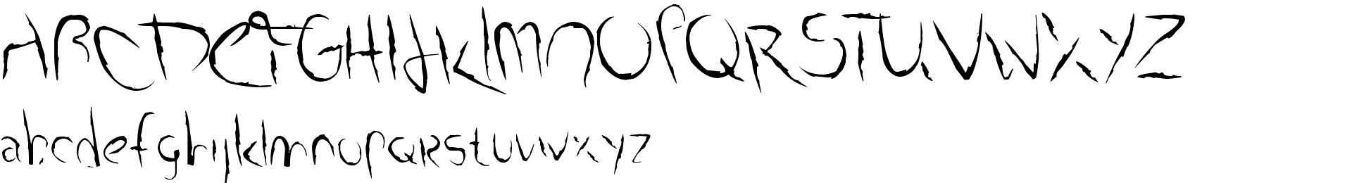 Smudged Alphabet