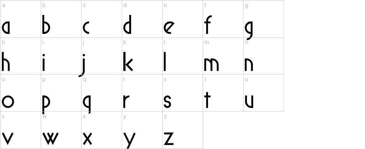 Spyrogeometric lowercase