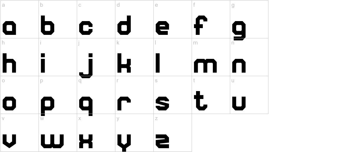 Square Block lowercase