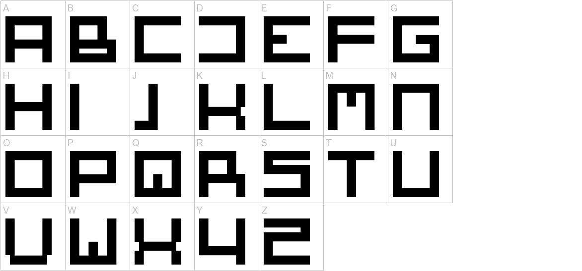 Square One uppercase