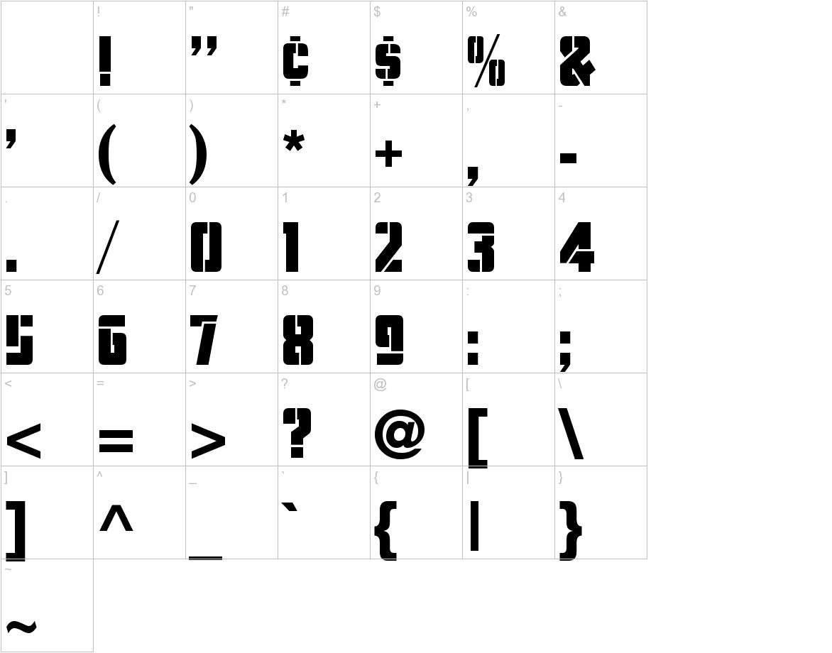 Stencil Camera characters