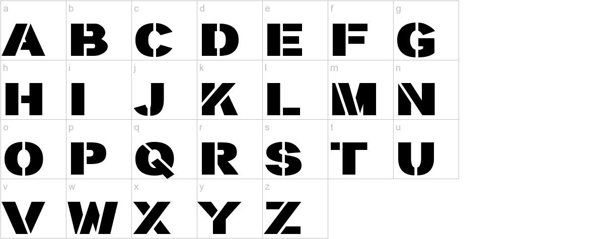 stencilla lowercase