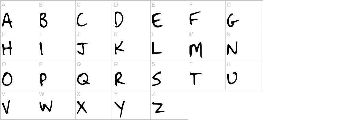 Strassman Script uppercase