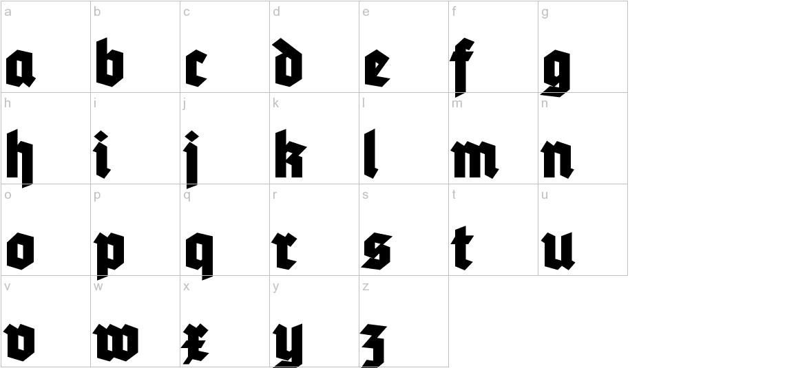 Tannenberg Fett lowercase