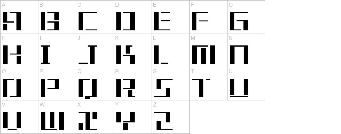 Tetris uppercase