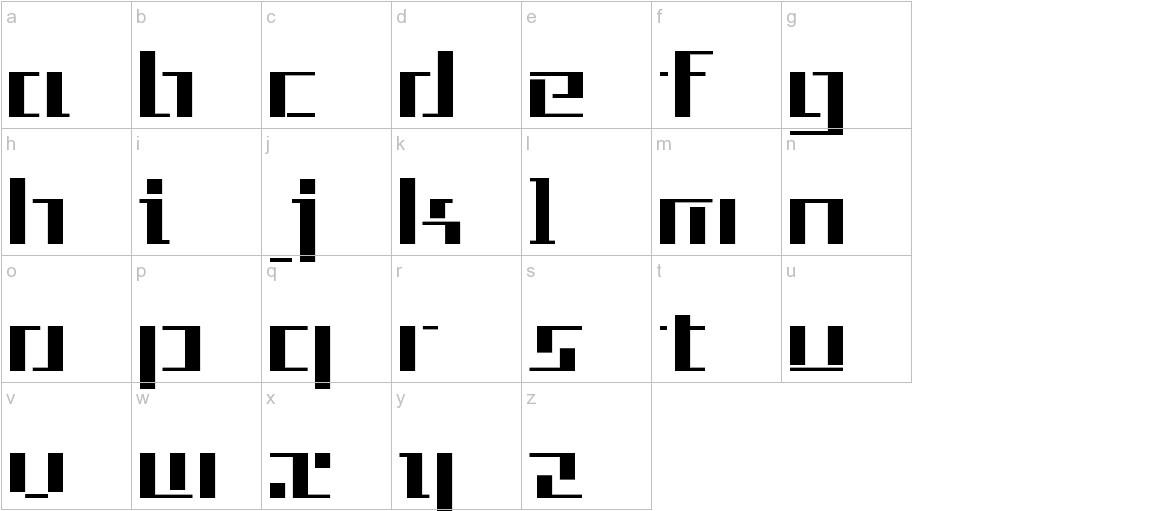 Tetris lowercase