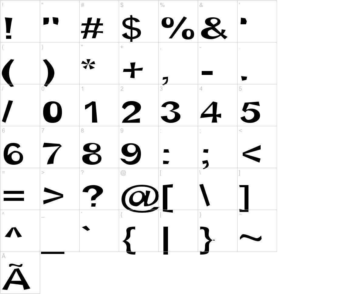 Snott SemiBold characters
