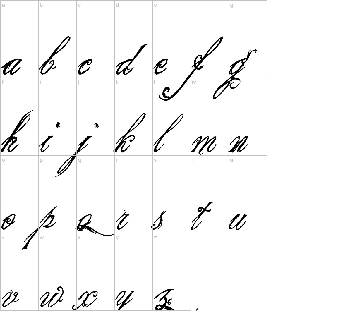 the King & Queen font lowercase