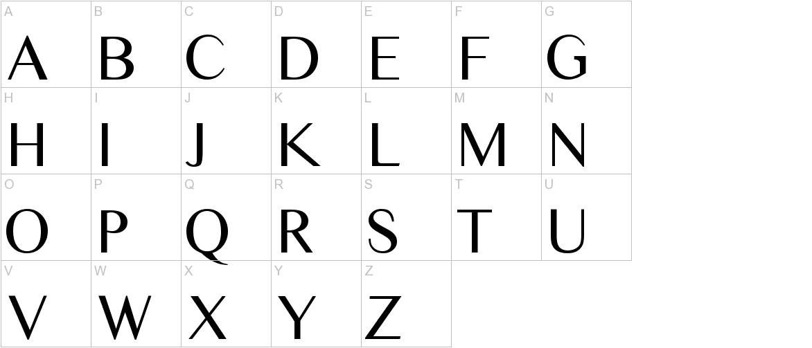 Times Sans Serif uppercase