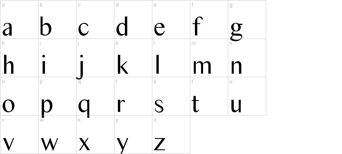Times Sans Serif lowercase