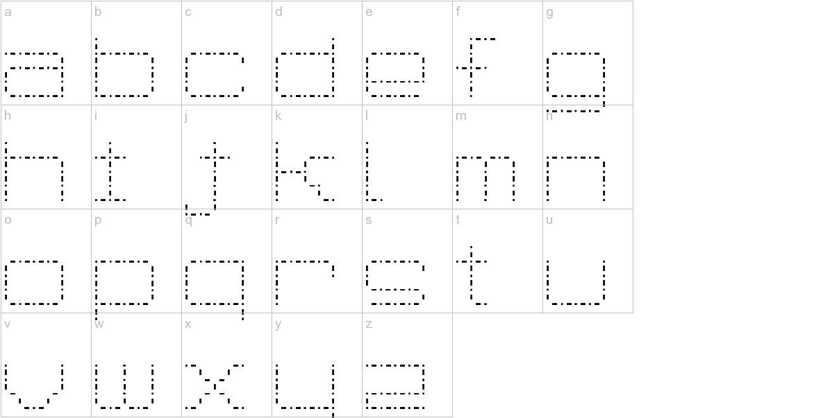 Spot Matrix lowercase