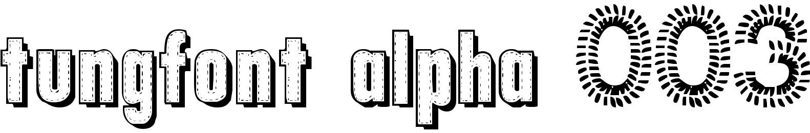 tungfont alpha 003
