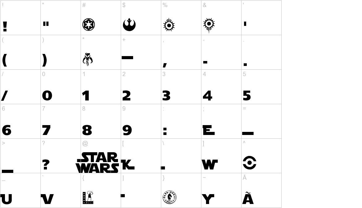 Star Jedi1 characters