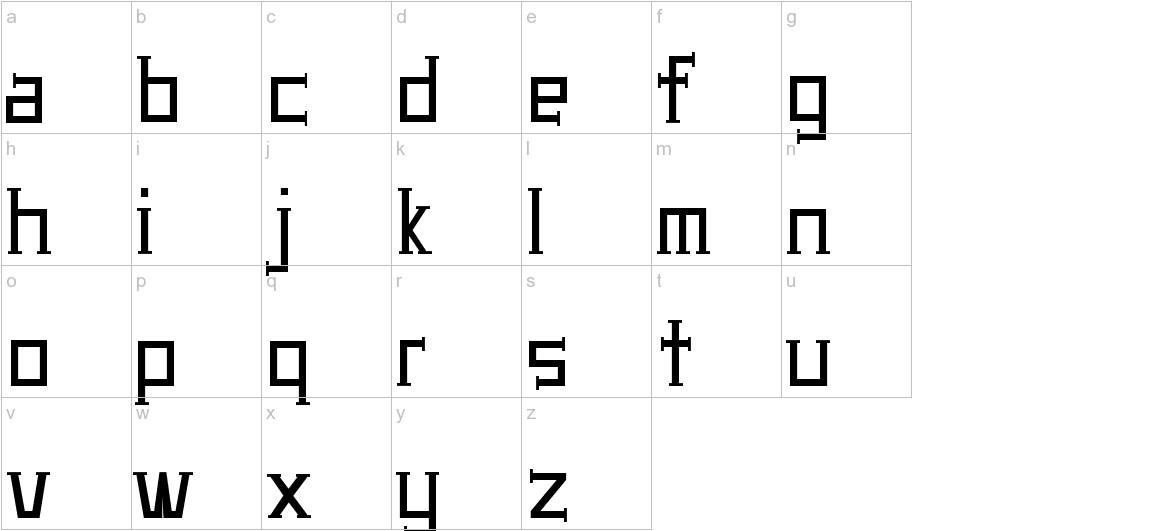 UA Serifed lowercase