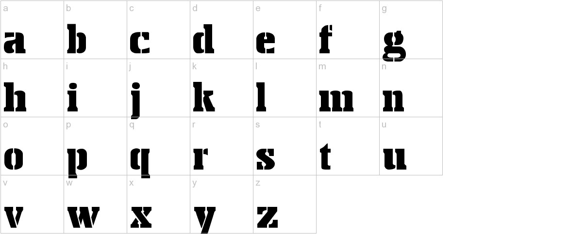 Stencil Export lowercase