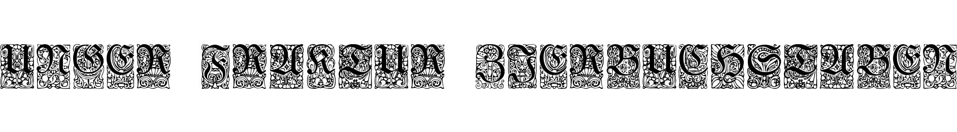 Unger-Fraktur Zierbuchstaben