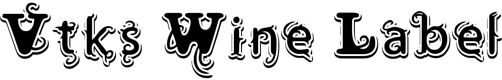 Vtks Wine Label