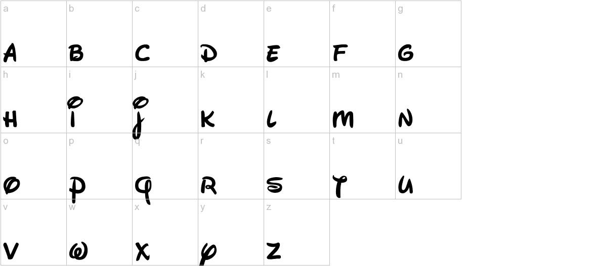 Waltograph lowercase