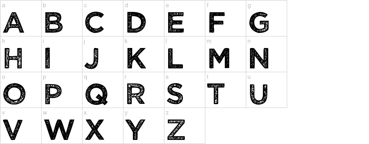 Wicked Grit lowercase