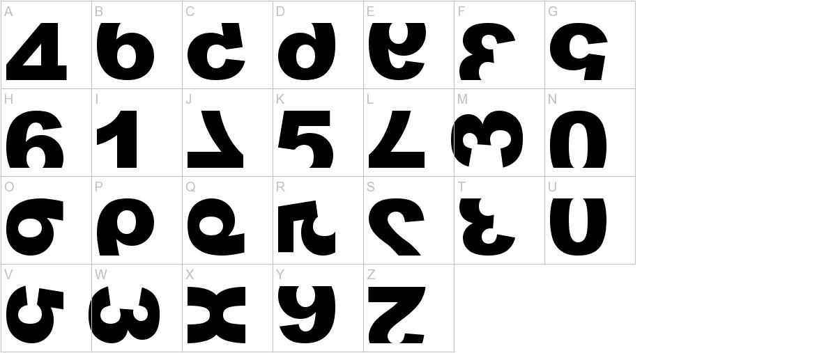 widznumber text 1 uppercase
