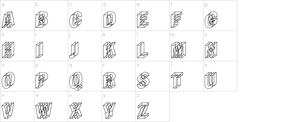 Wireframe lowercase