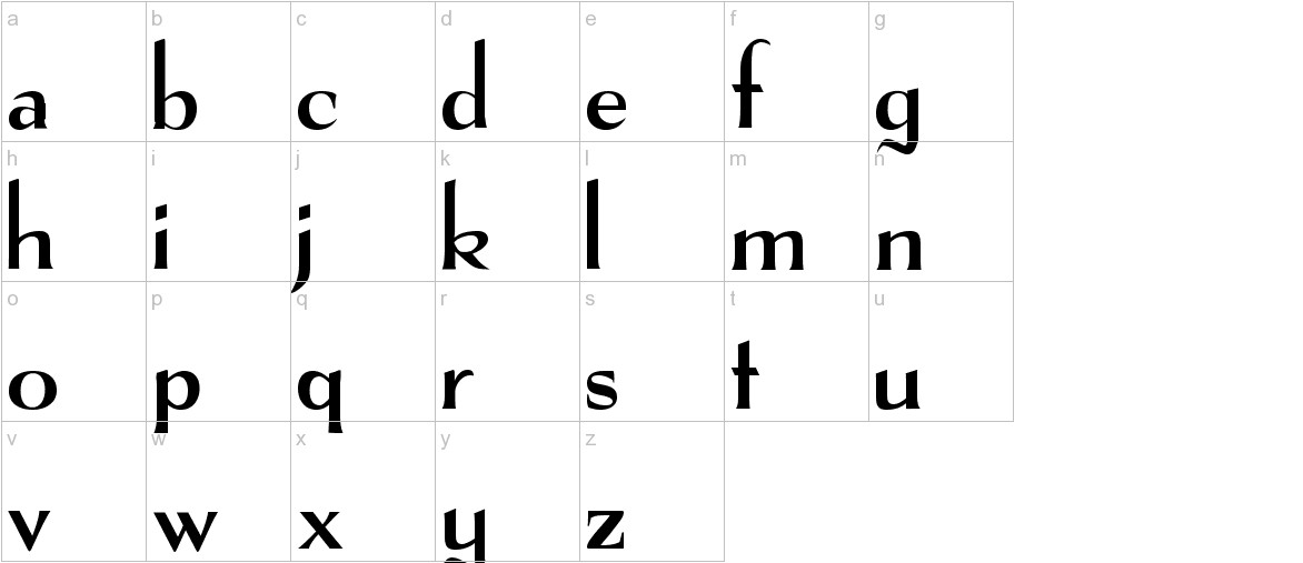 The Real Font lowercase