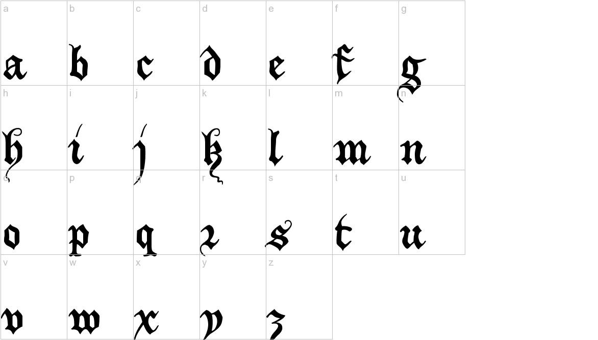 XiBeronne lowercase
