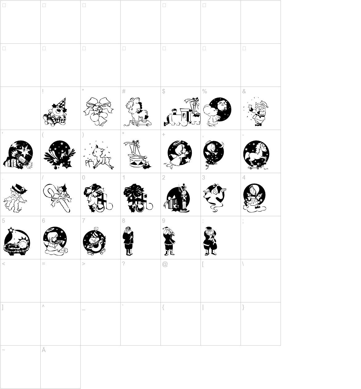 XmasPromotionsSymbols characters