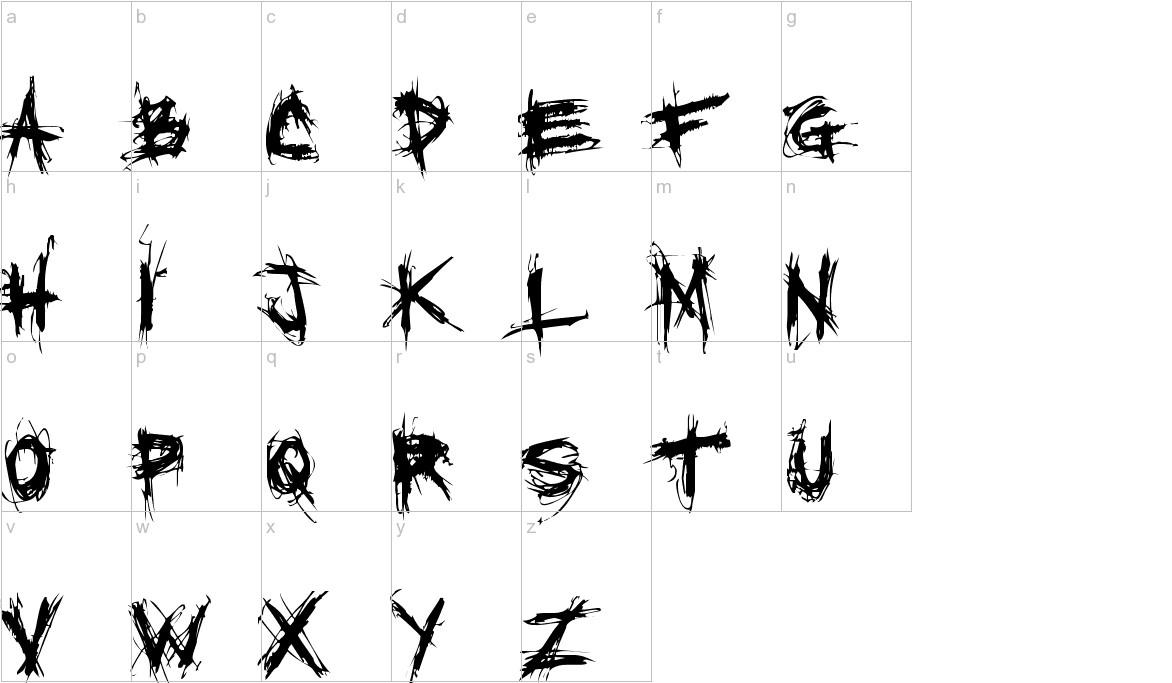 XXII SCRATCH lowercase