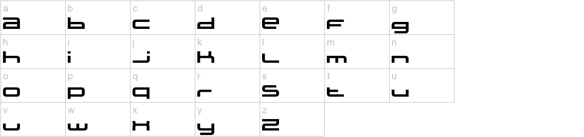 XXII STATIC lowercase