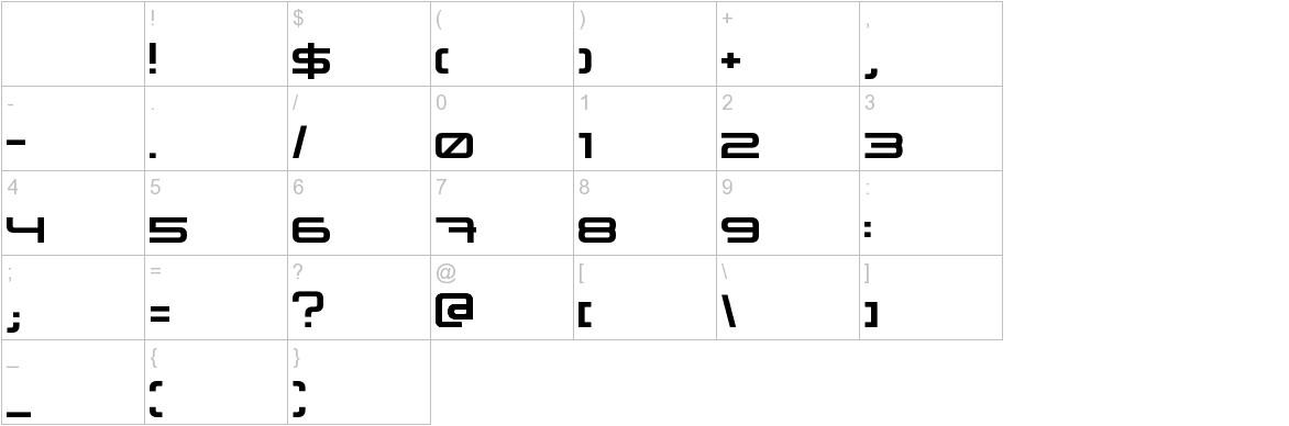 XXII STATIC characters