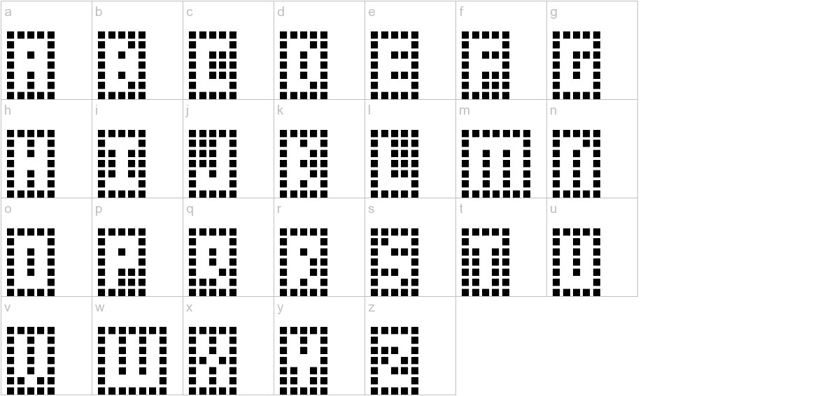 Y-Grid lowercase