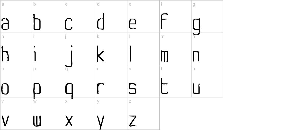 Yachting Type lowercase