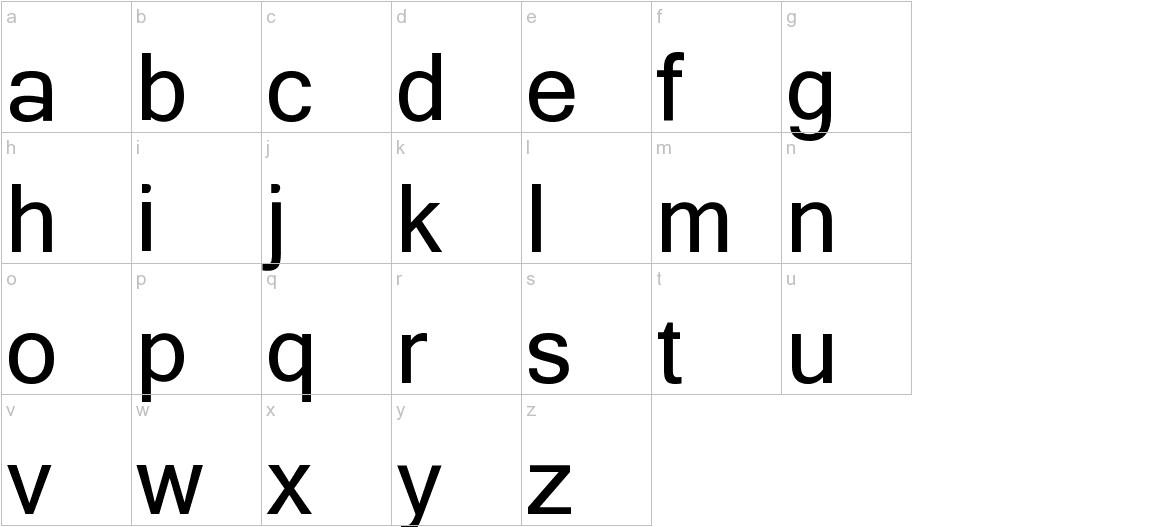 Yagora lowercase