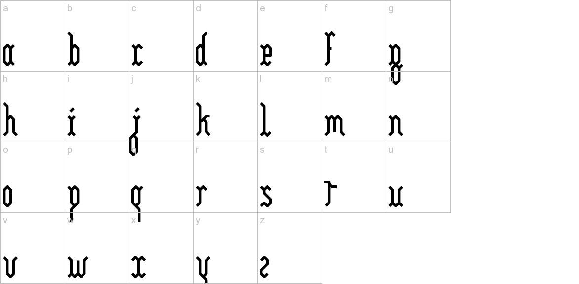 Yllia lowercase