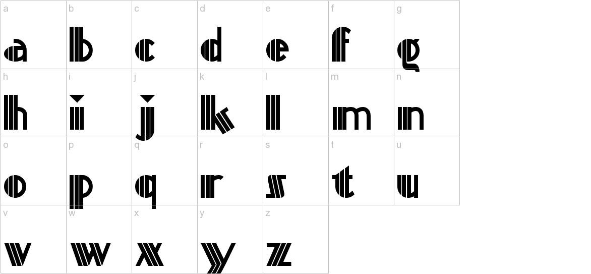 Titanick-Display lowercase