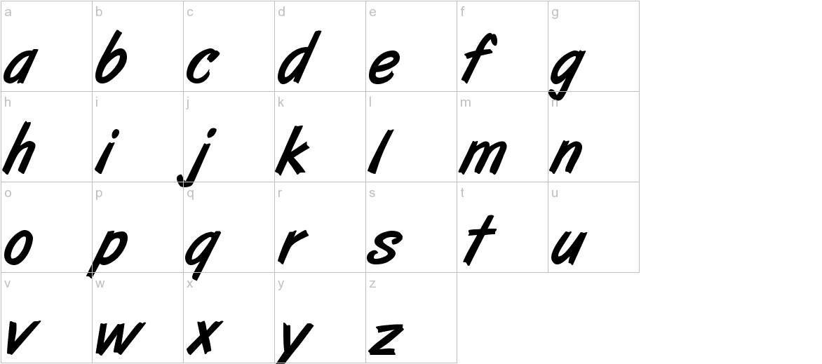 ArtBrush Medium lowercase